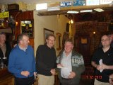 The overall winner John Lacey collecting a prize from our sponsor Ned